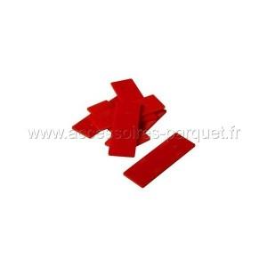 Cales PVC autodrainantes 2mm Rouge - 200 cales