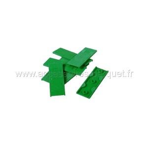 Cales PVC autodrainantes 3mm Vert - 200 cales