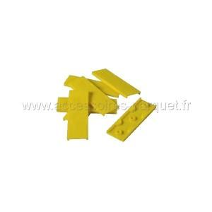 Cales PVC autodrainantes 4mm Jaune - 200 cales