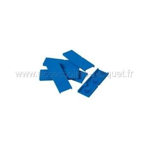 Cales PVC autodrainantes 5mm Bleu - 200 cales